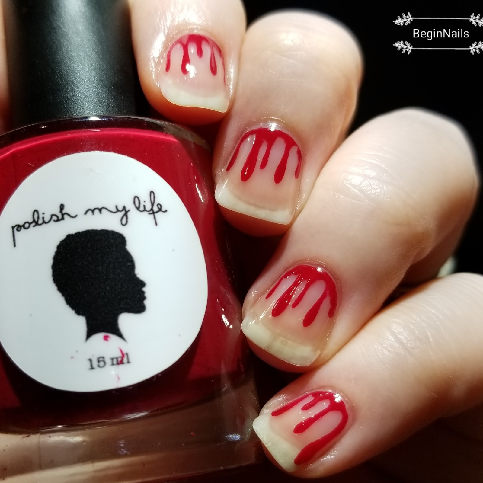 Let\'s Begin Nails: 26 Great Nail Art Ideas: Halloween With Negative ...