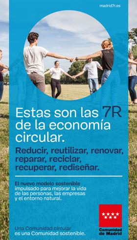 Campaña 'Madrid 7R' para hacer frente al 'usar y tirar'