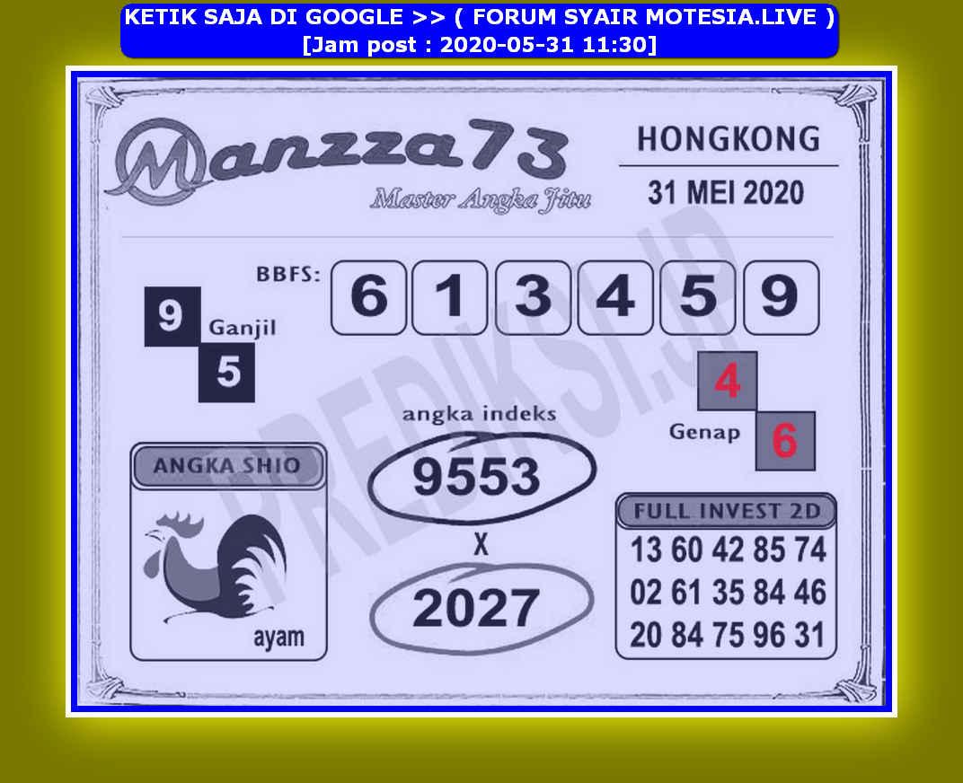 Kode syair Hongkong Minggu 31 Mei 2020 232