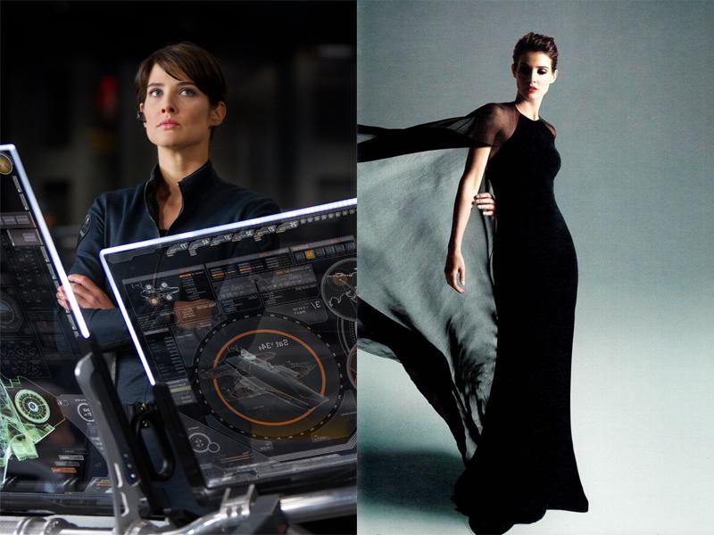 Si Jenius Agen Hill di Avengger oleh Coby Smulder  tampil seksi dengan gaun hitam panjang