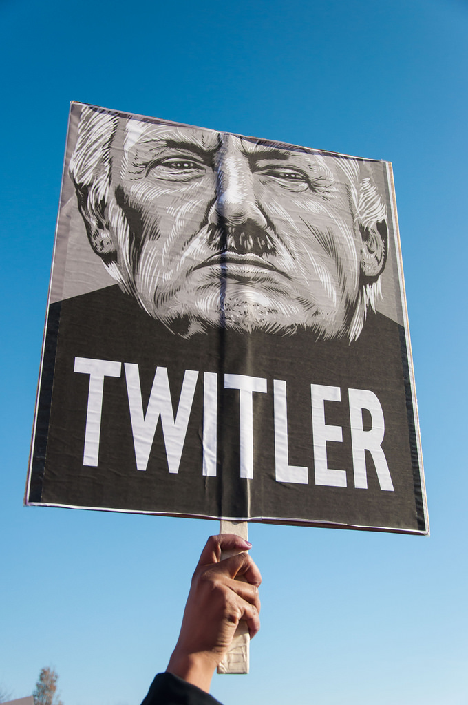 - Twitler Protest sign www.flickr.com/photos/bradhoc/32463095305