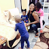 Mercy Johnson shares lovely photo of her children and family dogs