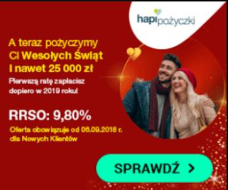 Świąteczna pożyczka w Hapi Pożyczki reklama