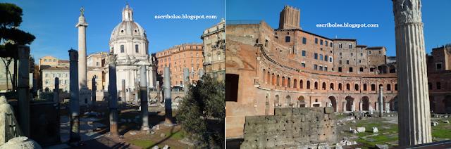 Viaje a Roma: columna Trajana y Roma antigua