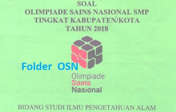 Soal OSK IPA SMP 2018