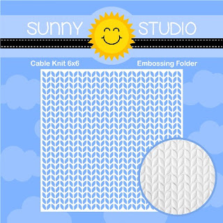 Sunny Studio Stamps: 6x6 Cable Knit Embossing Folder