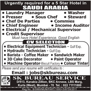 5 Star Hotel Jobs in Saudi Arabia for Indians