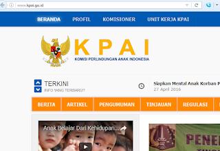 Website Komisi Perlindungan Anak Sudah Pulih dan Normal Kembali