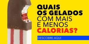 Quais os gelados com mais e menos calorias?