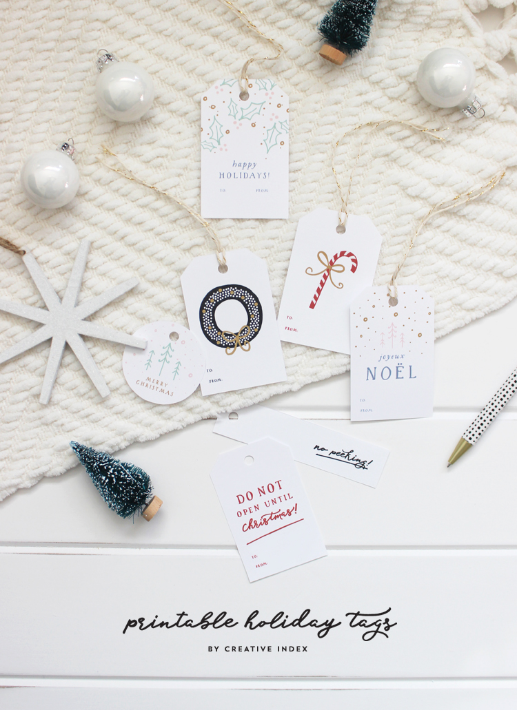 2016 free printable holiday gift tags - creative index blog