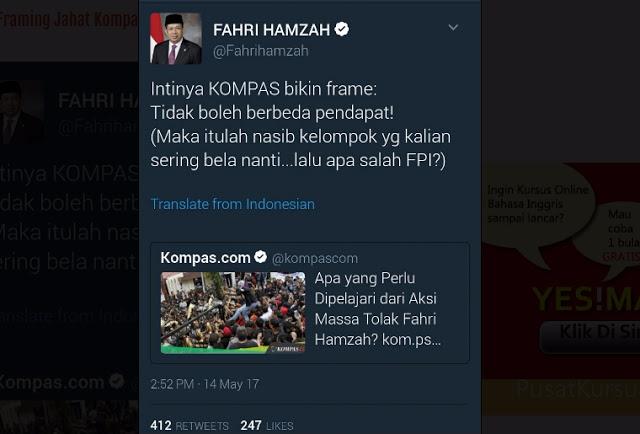 MEMBONGKAR Framing Jahat Kompas Terkait Isu Penolakan Fahri Hamzah di Manado