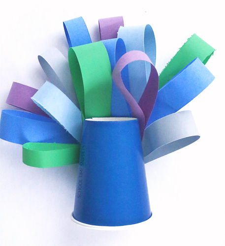 peacock feathers paper craft