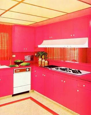 Diseño de cocina rosa