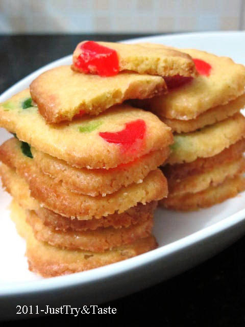 Resep Cherry Icebox Cookies