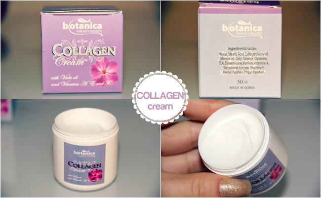 Botanica natural cosmetic collagen krema za lice sa kolagenom i uljem cveta divlje ljubicice