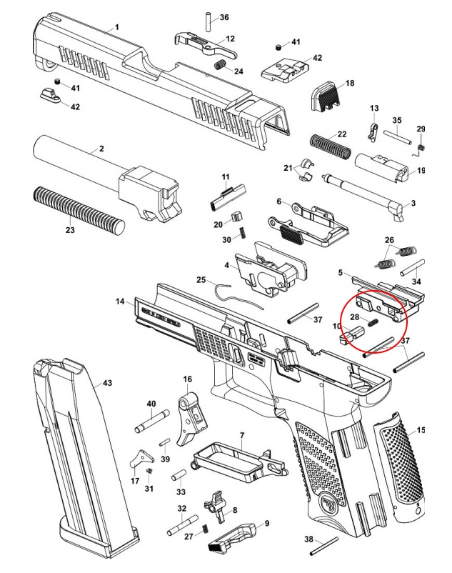 Cgw 10190 Reduced Power Reset Spring For P10c