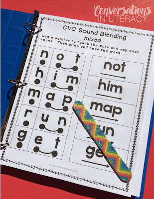 cvc intervention phonics binder for RTI, guided reading and word work stations