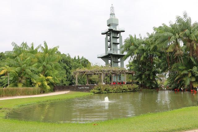 Parque Mangal das Garças: Farol de Belém.