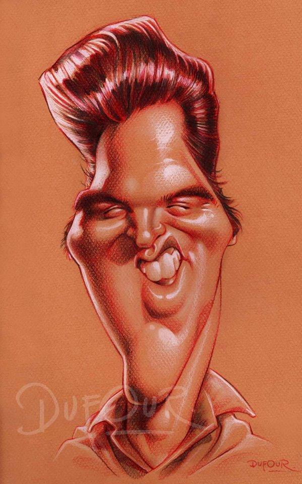Caricatura de Elvis Presley 3 por Santiago Dufour