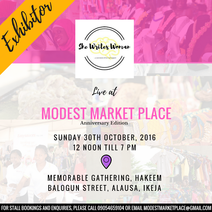 Upcoming Appearance: @Shewriteswoman At Modest Market Place.