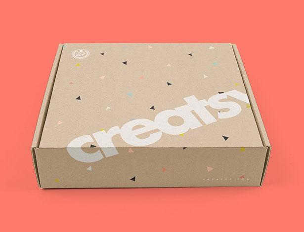 Gratis Mockup Packaging/Kemasan PSD 2018 - Mailing Gift Box Packaging Mockup PSD