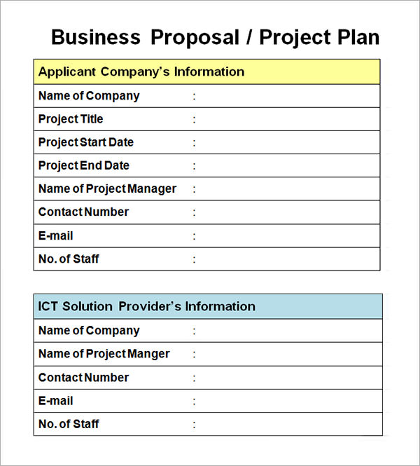 Sample of Project Proposal Template in word Format Download free – Word Project Proposal Template