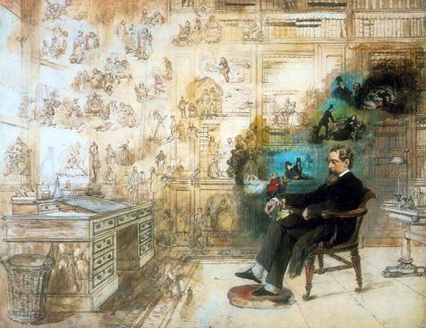 Charles Dickens a sonhar