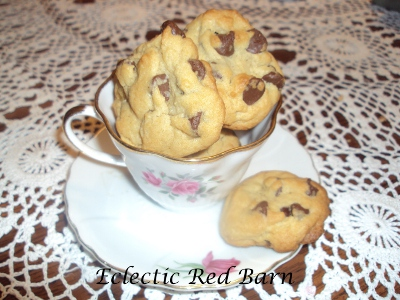 A Cup of Chocolate Chip Cookies