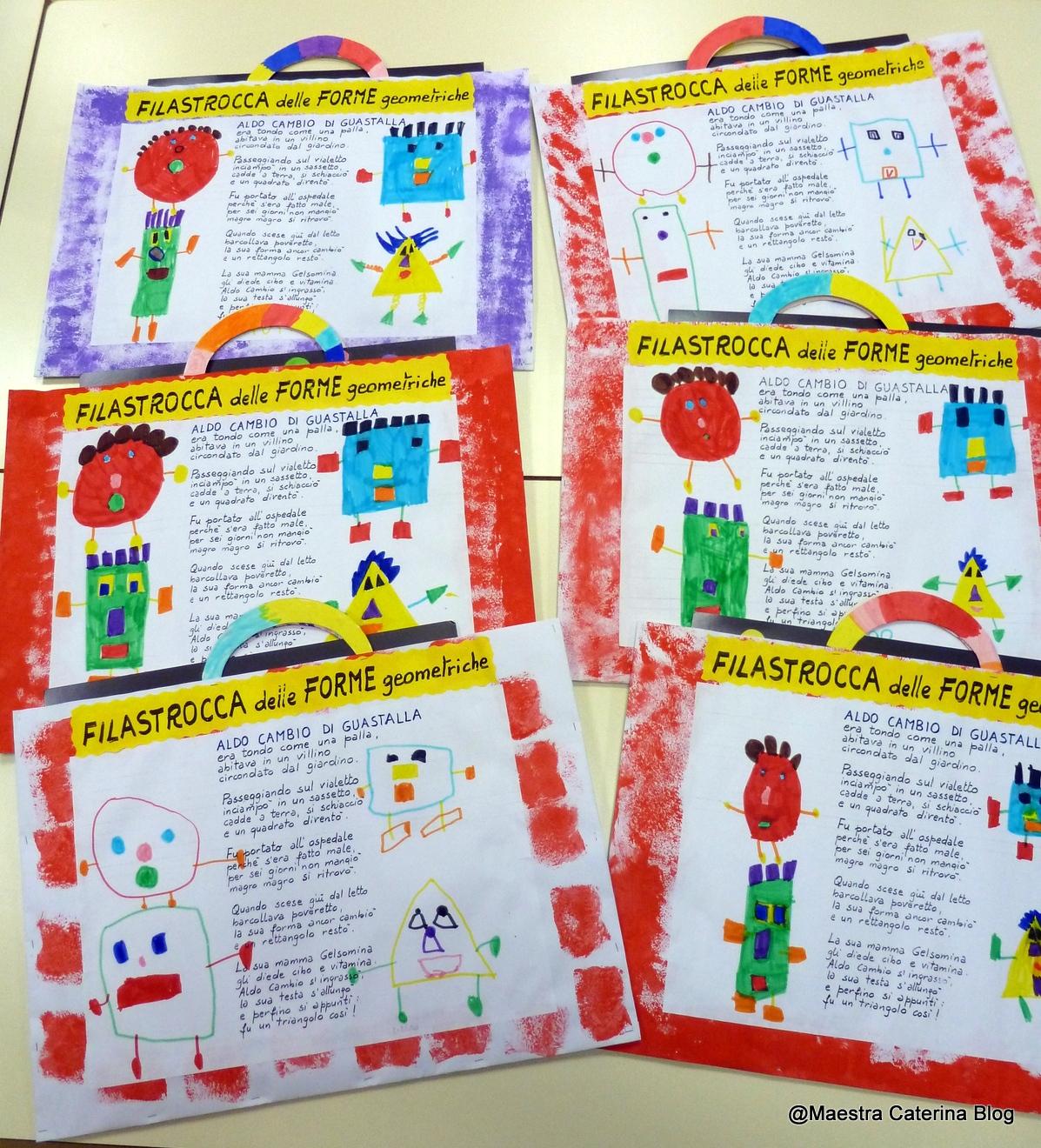 Maestra caterina filastrocca delle forme geometriche for Cartelloni di carnevale scuola primaria