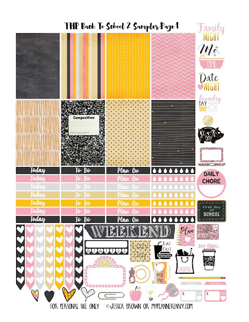 Back To School 2 Sampler Page 1 for the Happy Planner on myplannerenvy.com