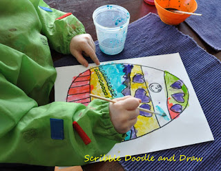 art activity for kids syrup painting