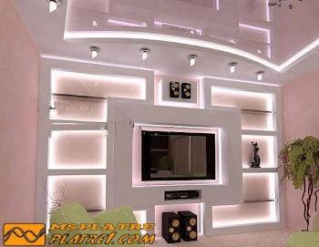 decoration TV Wand platre
