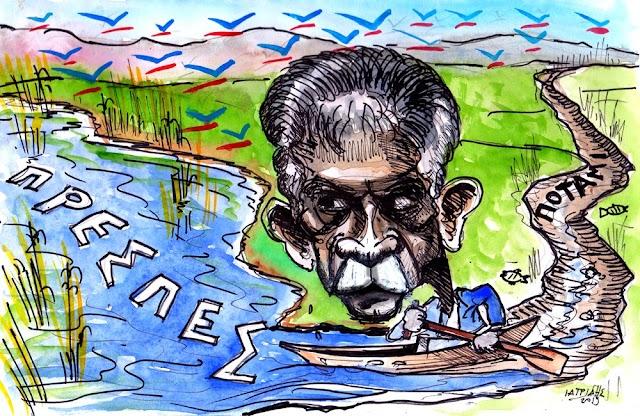 Το ποτάμι ξέβρασε τον Δανέλλη στις Πρέσπες