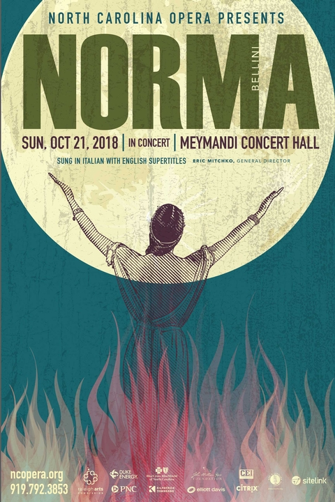 IN REVIEW: North Carolina Opera's concert performance of Vincenzo Bellini's NORMA at Meymandi Concert Hall; Sunday, 21 October 2018 [Graphic © by North Carolina Opera]