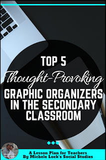 I love new Ideas for using graphic organizers in the secondary classroom. These are perfect for my middle school students and can help them in their high school classes, too. I love SPRITE, but I like Face-Off for some of my American and World History lessons. And the last one is a great tool for any social studies classroom.