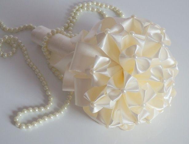 Buquê de origami de tecido