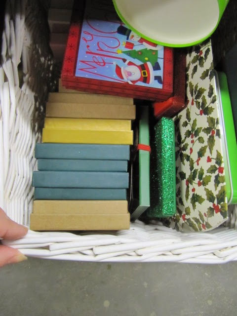 Sew Many Ways Workbench Turned Into Gift Wrap Center