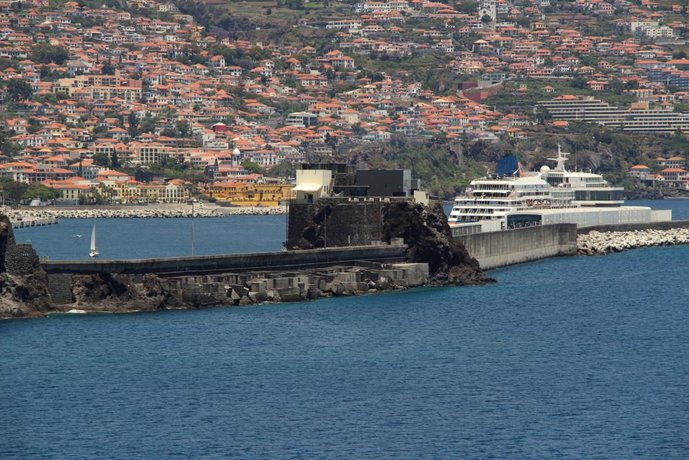 Funchal port and the city