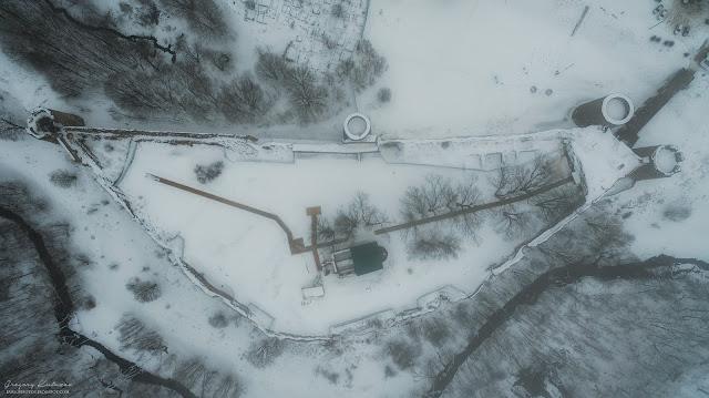 Копорская крепость проекция сверху. Вид с квадрокоптера