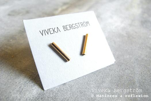 Viveka Bergström boucles mini-tube doré