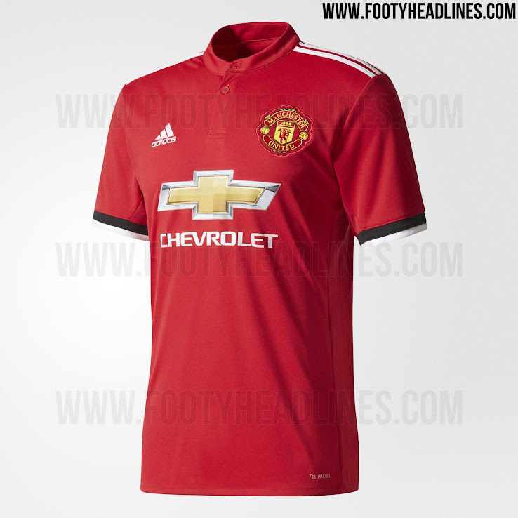 Manchester United 17-18 Home Kit Released - Footy Headlines 06b4938c2