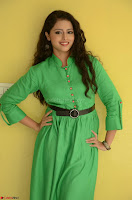 Geethanjali in Green Dress at Mixture Potlam Movie Pressmeet March 2017 008.JPG
