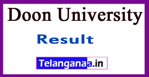 Doon University Entrance Result 2018