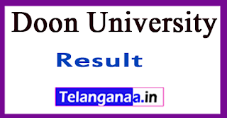 Doon University Entrance Result 2017