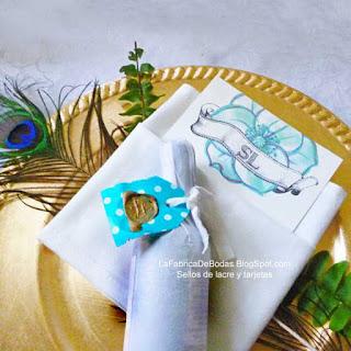 Diseñador Tarjeta para boda en azul aqua turquesa para menu con vintage hand lettering