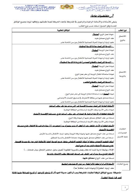 مذكرة الحركة الانتقالية الجهوية لجهة بني ملال خنيفرة