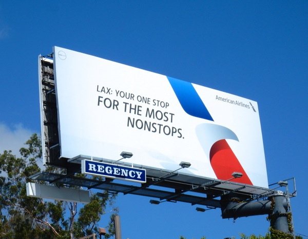 American Airlines For the most nonstops billboard