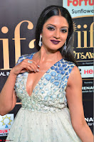Vimala Raman in a Deep Neck White Shaded Sleeveless Gown ~  Exclusive 34.JPG