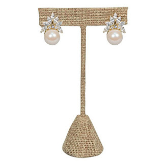 Shop for Small Metal T-Shaped Burlap Earring Display Stand