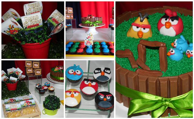 Decoração - Bolo - Lembrancinhas - Angry Birds